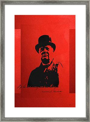 Winston Churchill - A Joke Is A Very Serious Thing Framed Print by Serge Averbukh