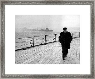 Winston Churchill At Sea Framed Print by War Is Hell Store