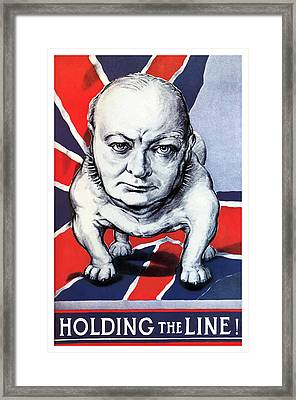 Winston Churchill Holding The Line Framed Print by War Is Hell Store