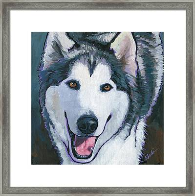 Winston Framed Print by Nadi Spencer