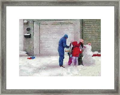Winter - Re-constructive Surgery Framed Print by Mike Savad