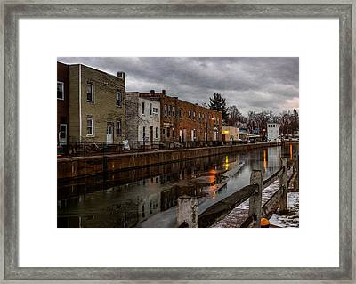 Winter Along The Canal Framed Print by Everet Regal