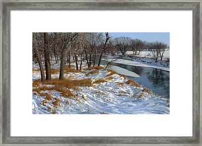 Winter Along The Little Sioux Framed Print by Bruce Morrison