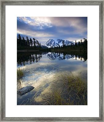 Winter Approaches Framed Print by Mike  Dawson