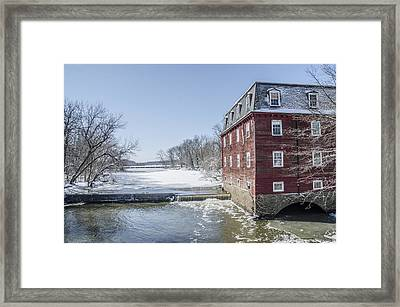 Winter At Kingston Mill Framed Print by Bill Cannon