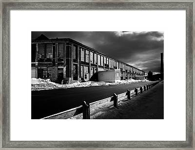 Winter Bates Mill Framed Print by Bob Orsillo