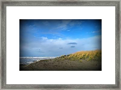 Winter Beach Framed Print by Mg Blackstock