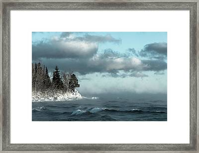 Winter Blues Framed Print by Mary Amerman
