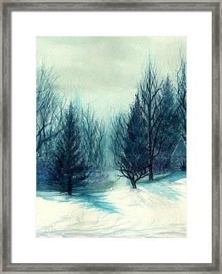 Winter Blues - Winter's Light Framed Print by Janine Riley