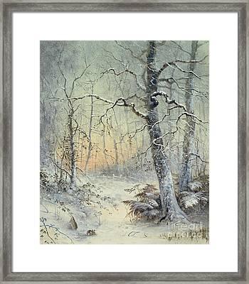 Winter Breakfast Framed Print by Joseph Farquharson