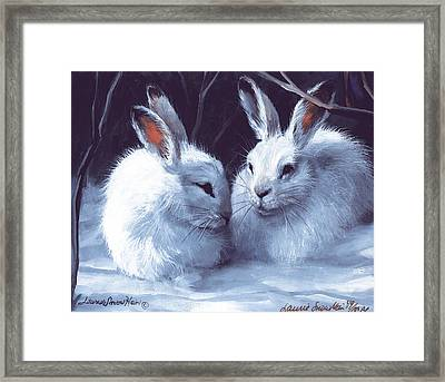 Three's A Crowd Framed Print by Laurie Hein