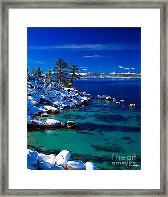 Winter Calm Lake Tahoe Framed Print by Vance Fox