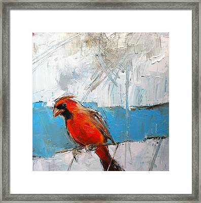 Winter Cardinal Framed Print by Claire Kayser