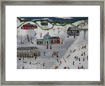 Winter Carnival Framed Print by Lee Gray