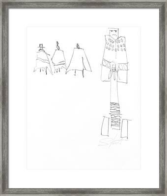 Winter Framed Print by Charles Stuart