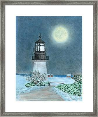 Winter Coast Framed Print by Troy Levesque