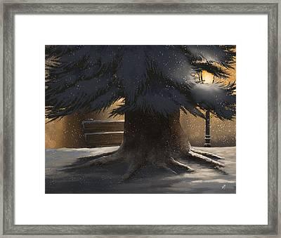 Winter Day Framed Print by Veronica Minozzi
