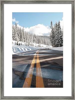 Winter Drive Framed Print by Juli Scalzi