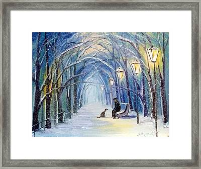 Winter Evening Framed Print by Olha Darchuk