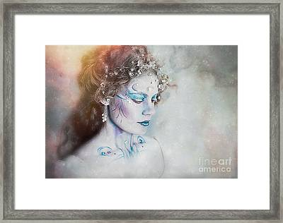 Winter Fae Framed Print by Spokenin RED