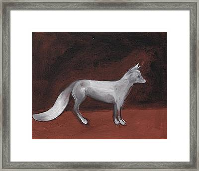 Winter Fox Framed Print by Sophy White