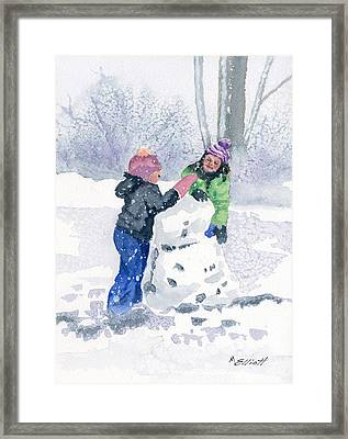 Winter Fun Framed Print by Marsha Elliott