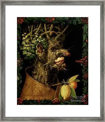 Winter Framed Print by Giuseppe Arcimboldo