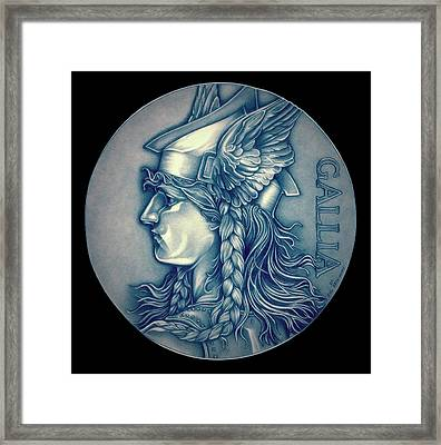 Winter Goddess Of Gaul Framed Print by Fred Larucci