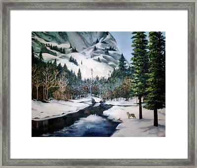 Winter Half Dome Framed Print by Beverly Johnson