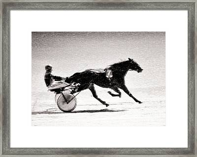 Winter Harness Racing Framed Print by Ari Salmela