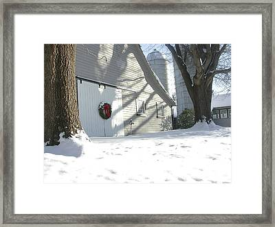 Winter Holiday At The Farm. Framed Print by Robert Ponzoni