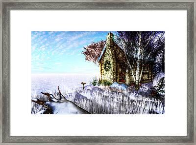 Winter Home Framed Print by Alina Davis