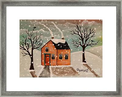 Winter House Framed Print by Karla Gerard