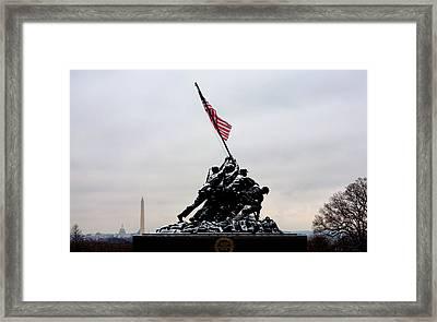 Winter In Arlington Framed Print by JC Findley