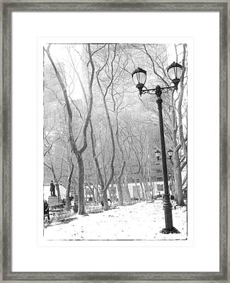 Winter In Byrant Park Framed Print by Jessica Jenney