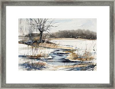 Winter In Caz Framed Print by Judith Levins