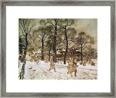 Winter In Kensington Gardens Framed Print by Arthur Rackham
