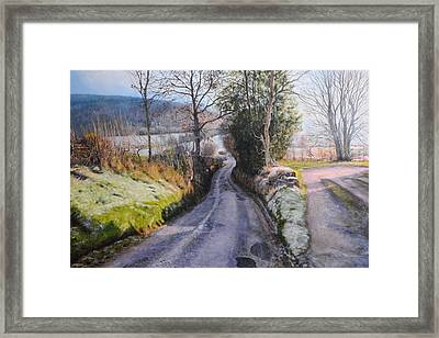Winter In North Wales Framed Print by Harry Robertson