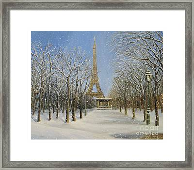 Winter In Paris Framed Print by Kiril Stanchev