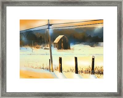 Winter In Powassan Ont. Framed Print by Bob Salo