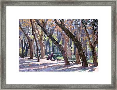 Winter In Rome Framed Print by L Diane Johnson