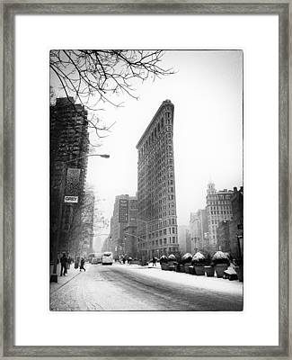 Winter In The Flatiron District Framed Print by Jessica Jenney