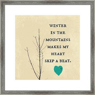 Winter In The Mountains Framed Print by Brandi Fitzgerald