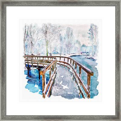 Winter In The Park Framed Print by Marian Voicu
