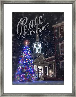 Winter In Vermont - Christmas Framed Print by Joann Vitali
