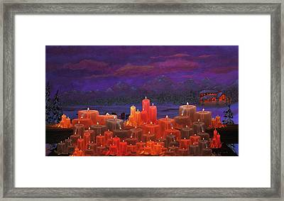 Winter Lakes Candle Light Framed Print by Ken Figurski