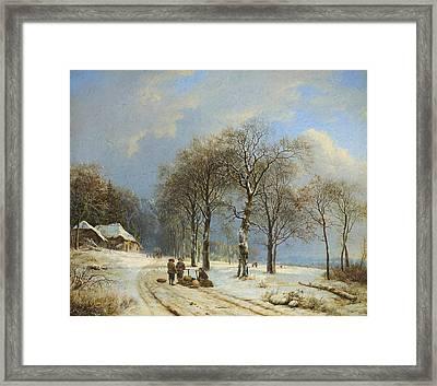 Winter Landscape 2 Framed Print by Barend Cornelis Koekkoek