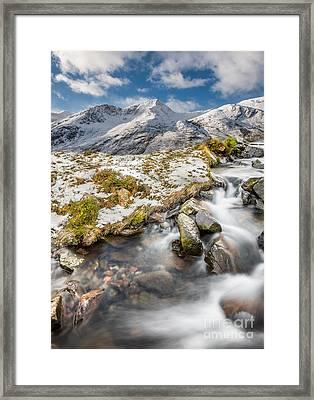 Winter Landscape Framed Print by Adrian Evans