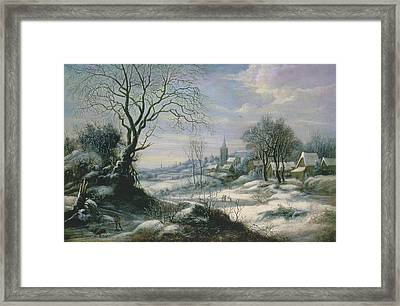 Winter Landscape Framed Print by Daniel van Heil