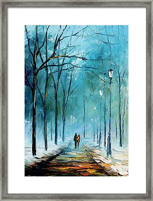 Winter Framed Print by Leonid Afremov